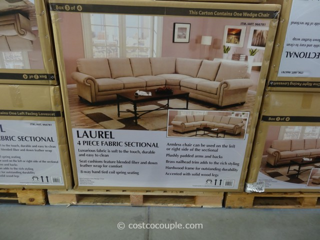 Marks and Cohen Laurel Fabric Sectional Costco 5