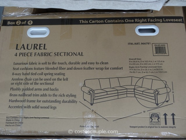 Marks and Cohen Laurel Fabric Sectional Costco 6