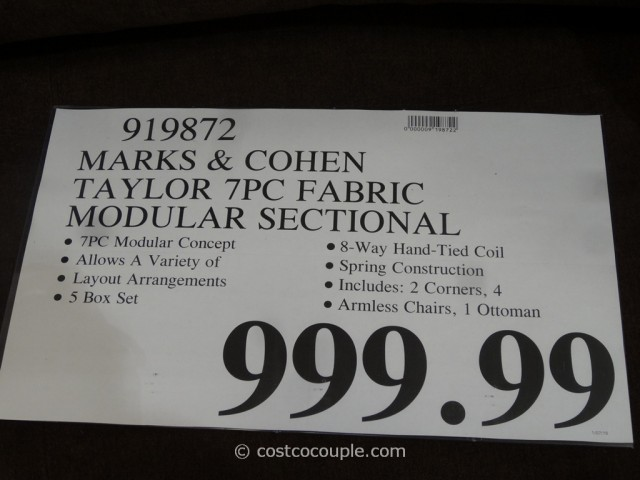 Marks and Cohen Taylor 7-Piece Modular Sectional Costco 1