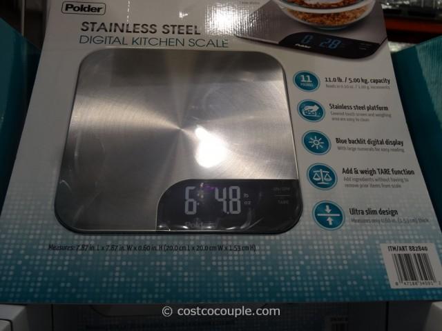Polder Digital Kitchen Scale Costco 1