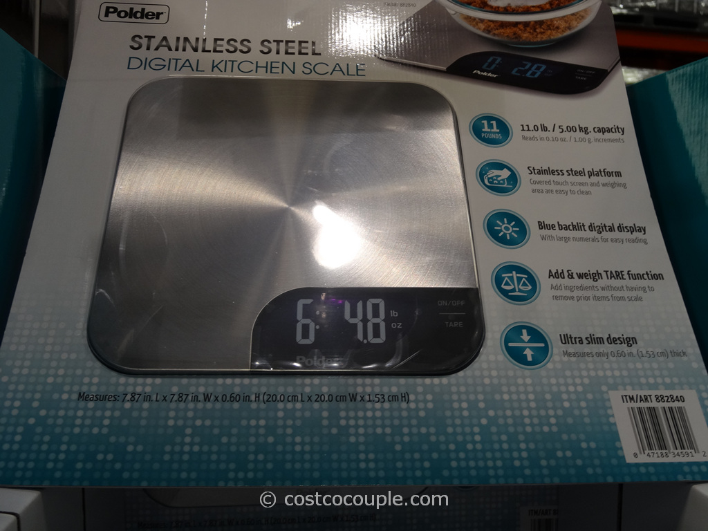 Polder Digital Kitchen Scale Costco 1