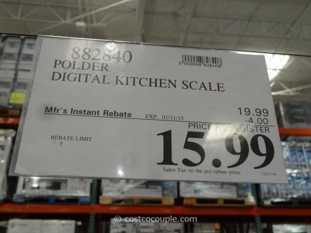 Polder Digital Kitchen Scale Costco 3
