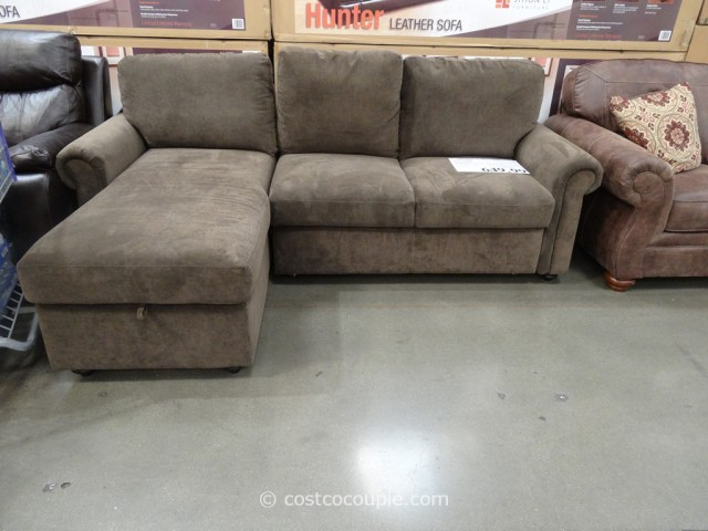 Pulaski newton chaise sofa bed for Ava chaise lounge costco