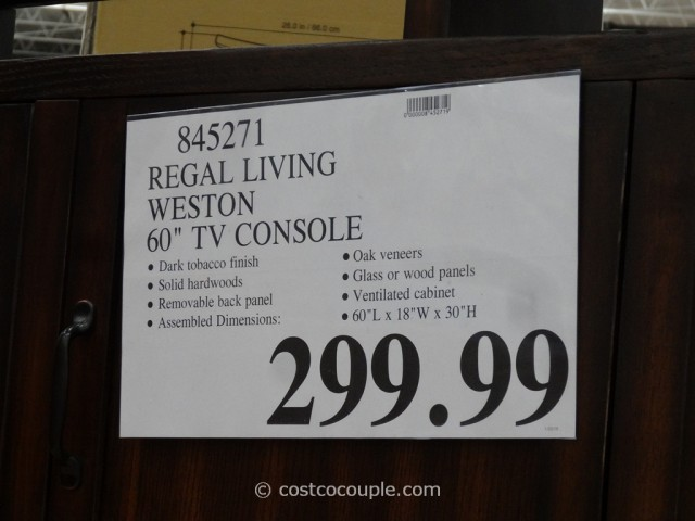 Regal Living Weston TV Console Costco 1