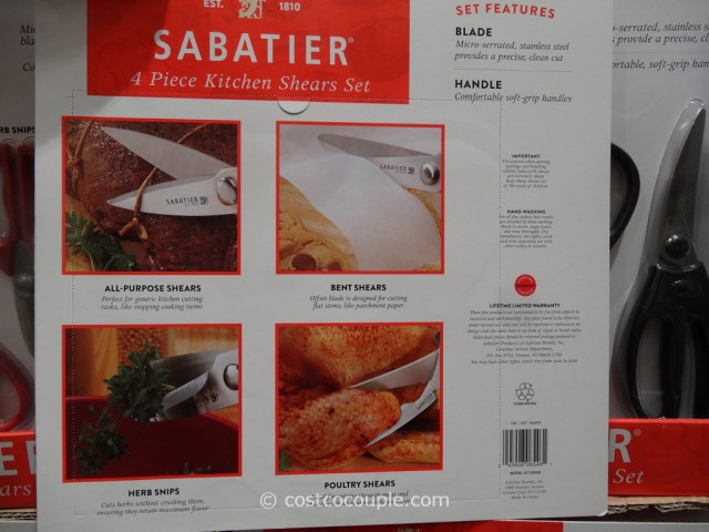 Sabatier Kitchen Shears Set Costco 3