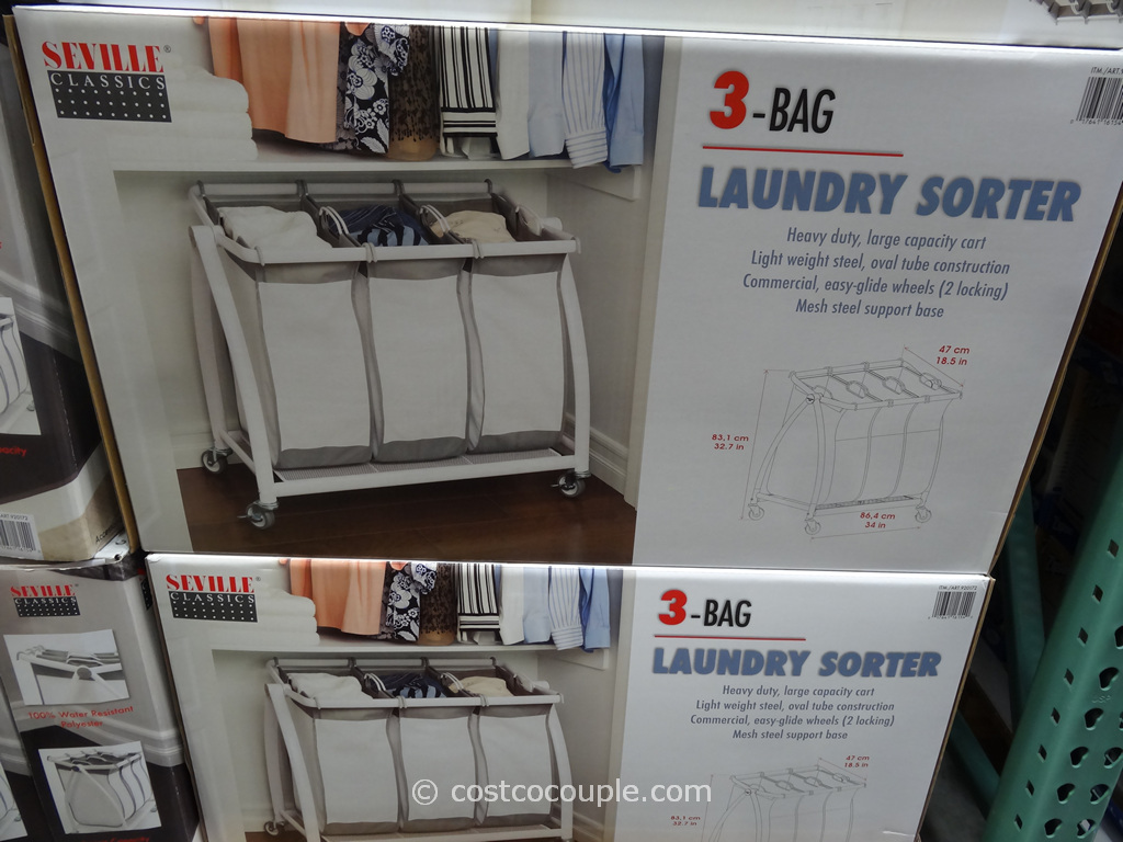 Seville Classic 3-Bag Laundry Sorter Costco 2