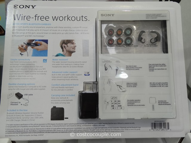 Sony Active Sports Bluetooth Earbuds Costco 5