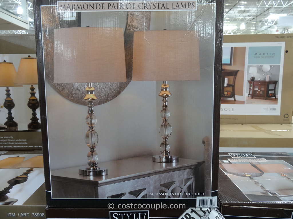 Stylecraft Crystal Table Lamp Set Costco 3