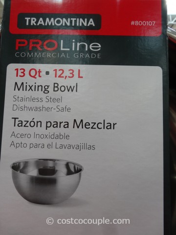 Tramontina Proline 13 Qt Stainless Steel Mixing Bowl
