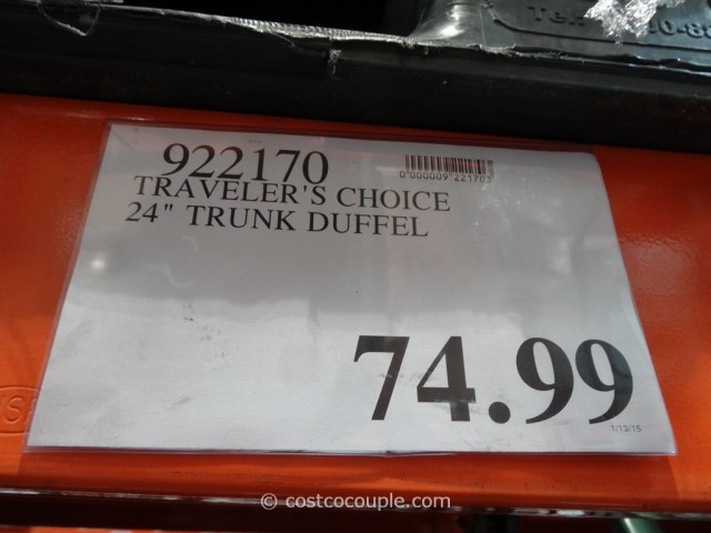 Travelers Choice 24-Inch Trunk Duffel Costco 1