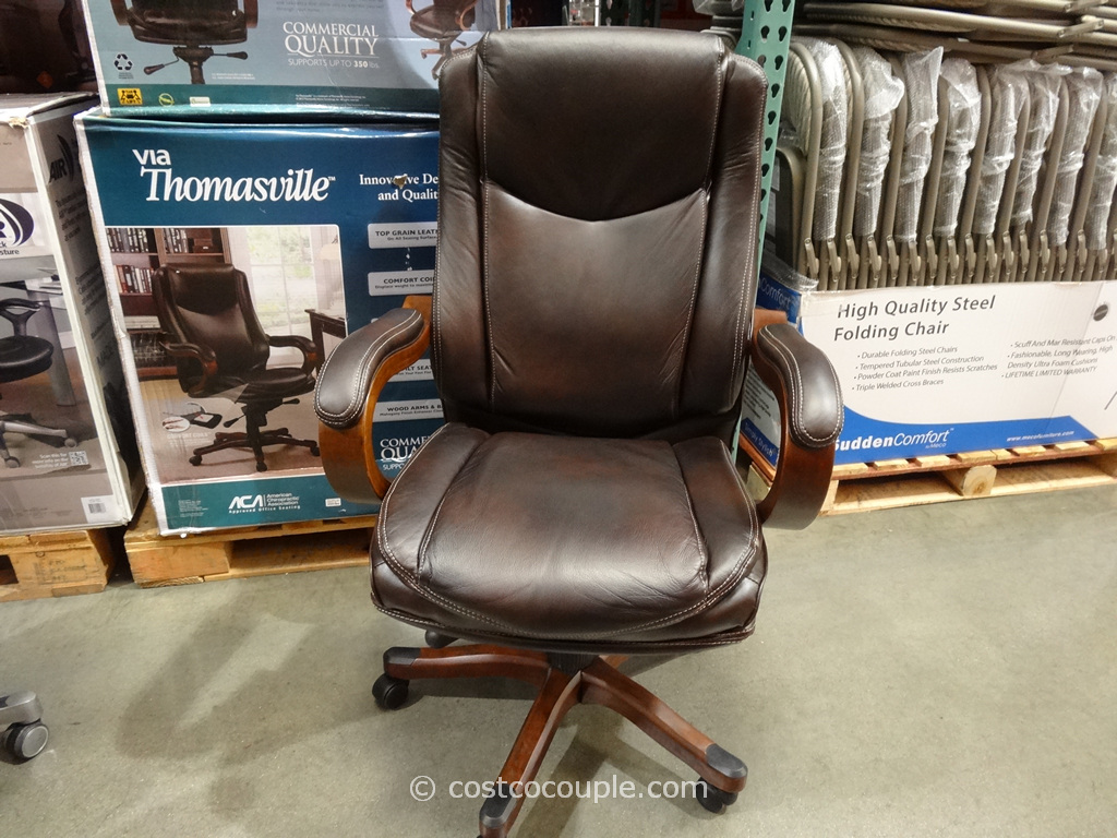 True Innovations Executive Brown Leather Chair Costco 2