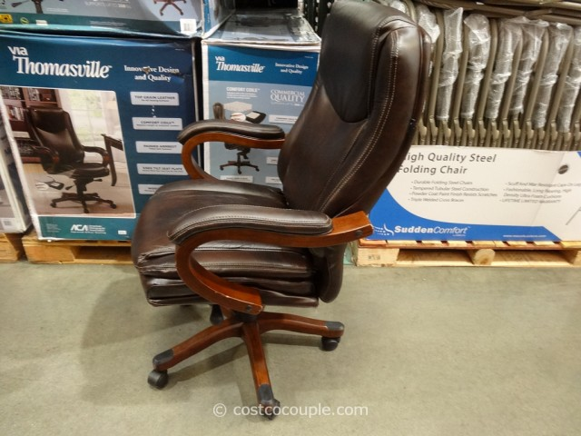 True Innovations Executive Brown Leather Chair - Costco office chairs in store