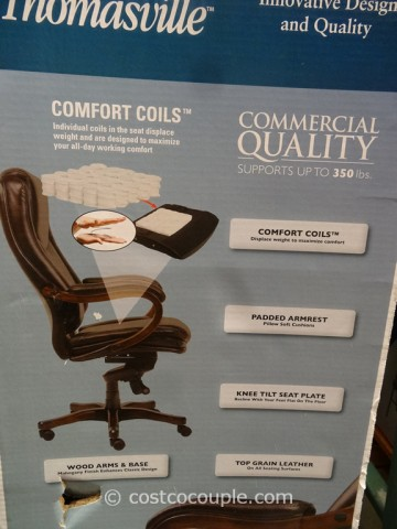 ... True Innovations Executive Brown Leather Chair Costco 5 ...