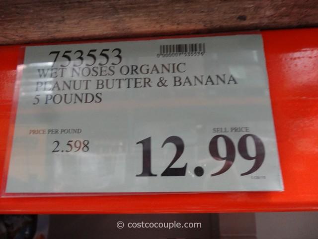 Wet Noses Organic Peanut Butter And Banana Dog Treats