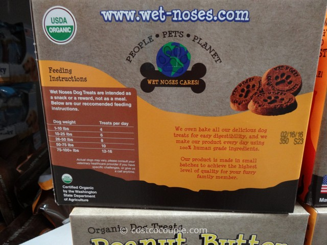 Wet Noses Organic Peanut Butter And Banana Dog Treats