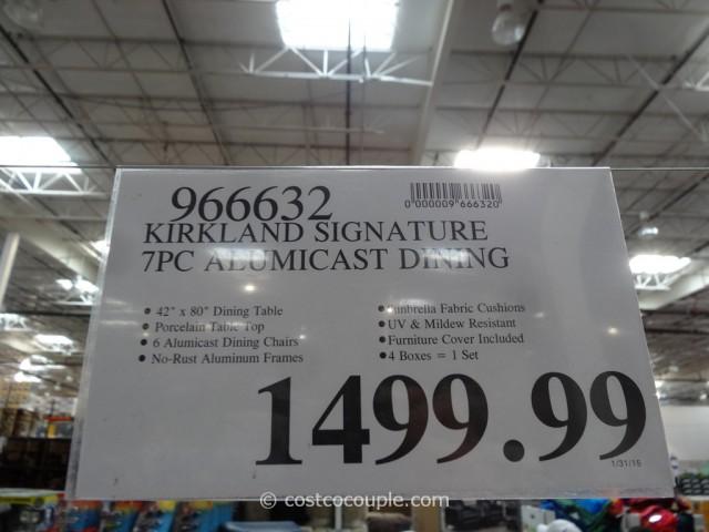 Kirkland Signature 7-Piece Alumicast Dining Set Costco 1