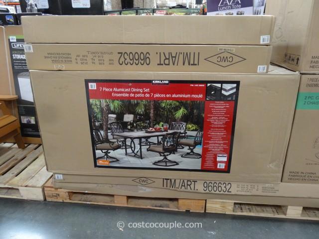 Kirkland Signature 7-Piece Alumicast Dining Set Costco 4
