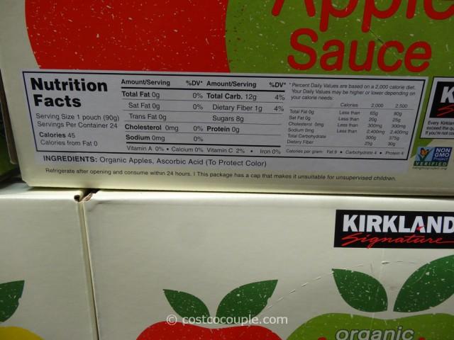 Kirkland Signature Organic Apple Sauce