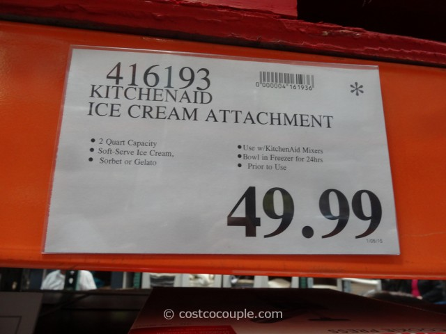 KitchenAid Ice-Cream Attachment Costco 1