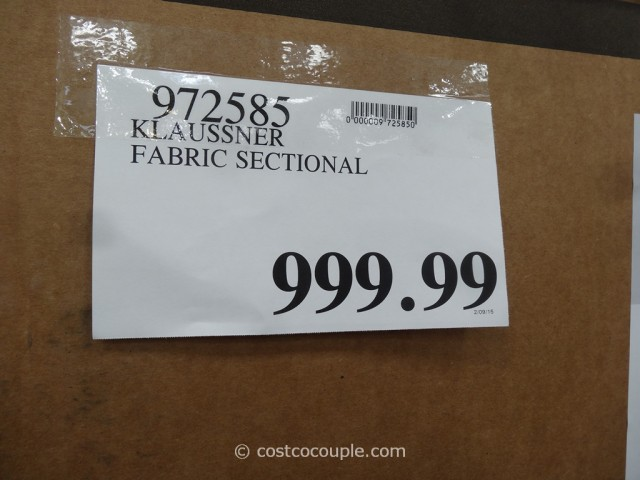 Klaussner Westbrook Fabric Sectional Costco 1