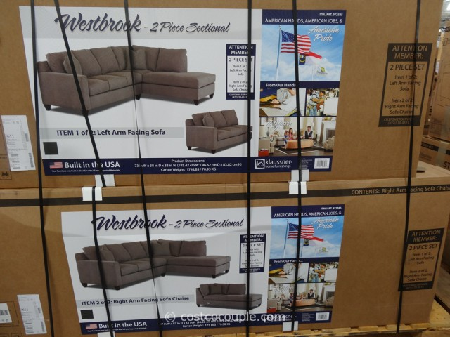 Klaussner Westbrook Fabric Sectional Costco 2