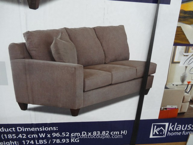 Klaussner Westbrook Fabric Sectional Costco 4