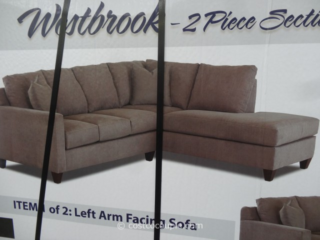 Klaussner Westbrook Fabric Sectional Costco 5