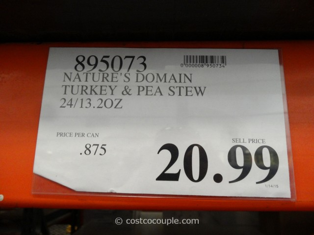 Natures Domain Turkey and Pea Stew Costco 1