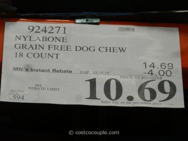 Nylabone Grain Free Dog Chew Costco 1