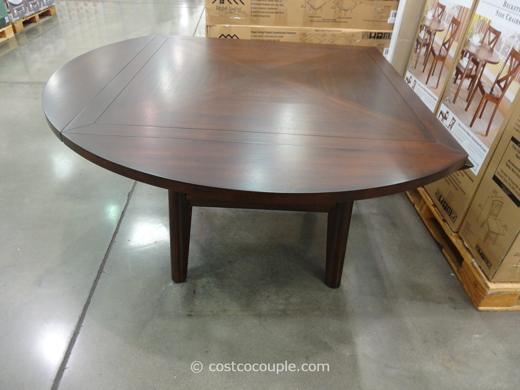 or round dining table the regal living beckett drop leaf dining table