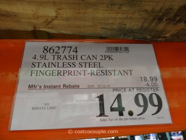 Sensible Eco Living Stainless Steel Trash Cans Costco 1