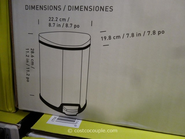 Sensible Eco Living Stainless Steel Trash Cans Costco 2