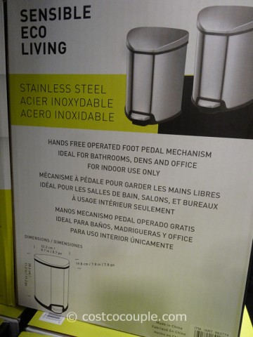 Sensible Eco Living Stainless Steel Trash Cans Costco 3