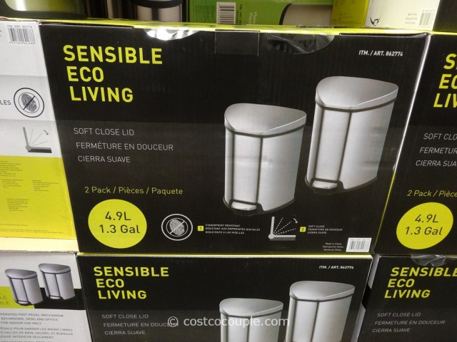Sensible Eco Living Stainless Steel Trash Cans Costco 4