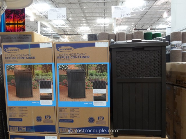 Suncast Resin Wicker Trash Hideaway Costco 2