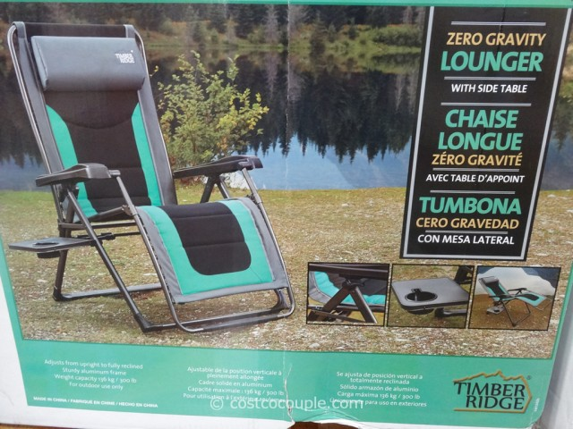 Timber Ridge Zero Gravity Lounger Costco 3