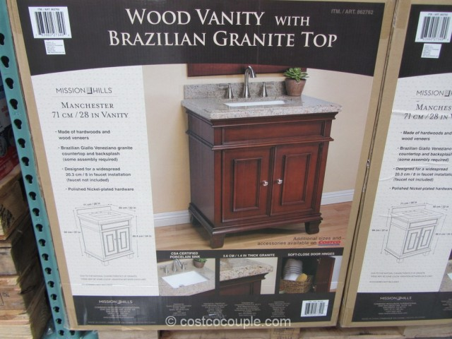 28-Inch Wood Vanity With Brazilian Granite Top Costco 2