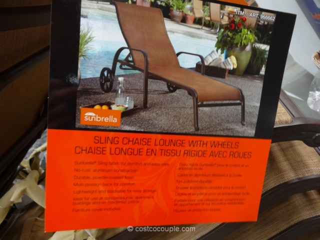 Agio International Sling Chaise Lounge