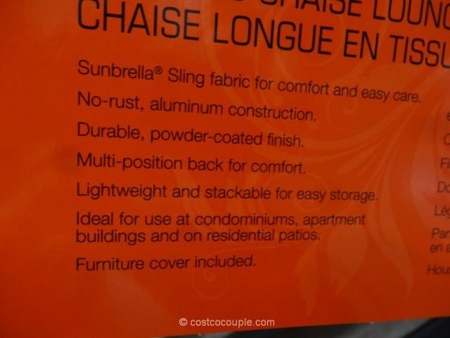 Agio International Sling Chaise Lounge Costco 7