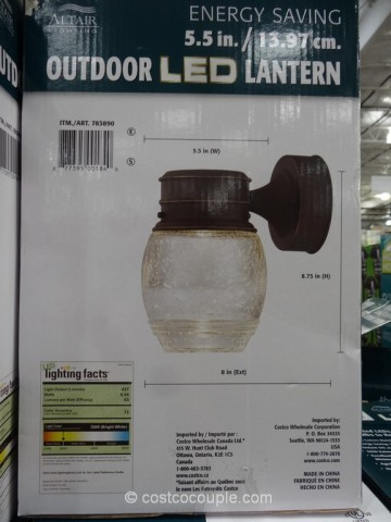 Altair Lighting Website Altair Lighting 7-Watt Outdoor LED Lantern