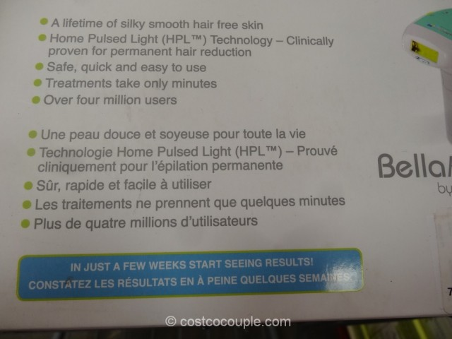 BellaFlash Laser Hair Removal System Costco 5
