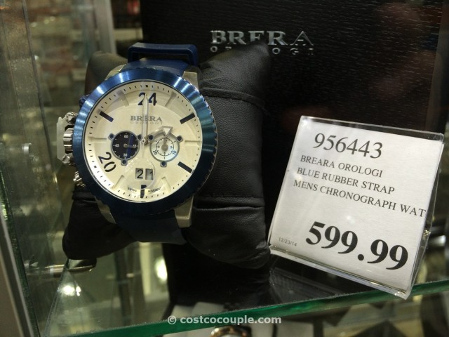 Brera Orologi Blue Rubber Strap Mens Chronograph Costco 1