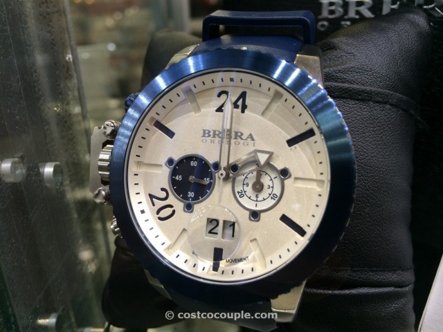 Brera Orologi Blue Rubber Strap Mens Chronograph Costco 2
