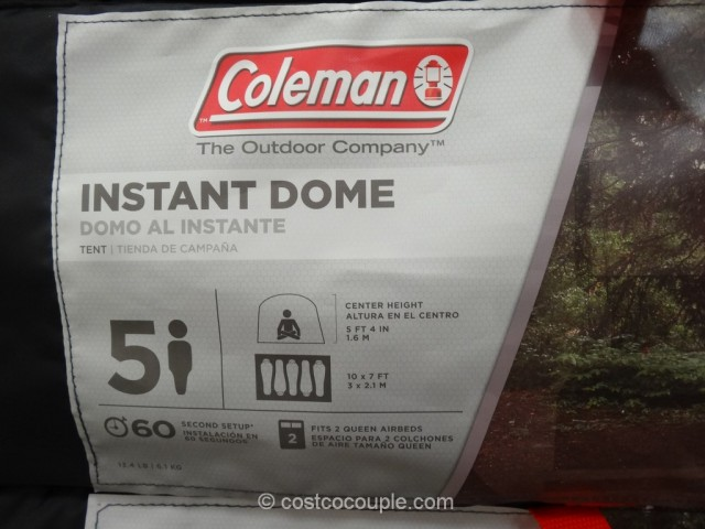 Coleman 5-Person Instant Dome Costco 4