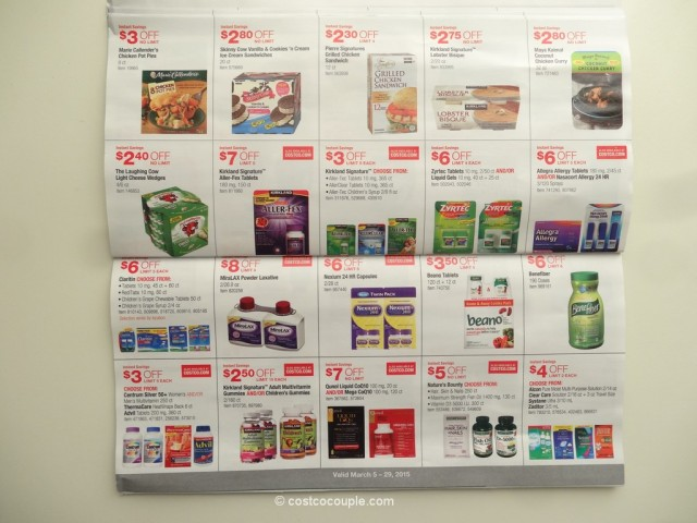 Costco March 2015 Coupon Book 03 05 15 To 03 29 15