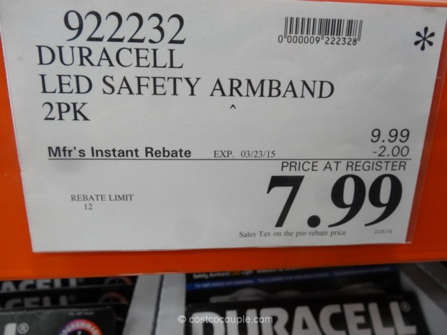 Duracell LED Safety Armband Costco 1