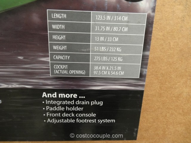 Equinox 104 Sit-In Kayak Costco 6