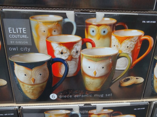 Gibson Owl City Mug Set Costco 3