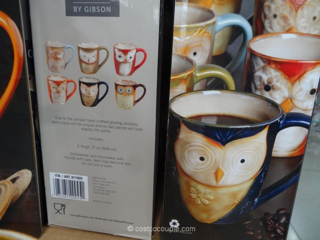 Gibson Owl City Mug Set Costco 4