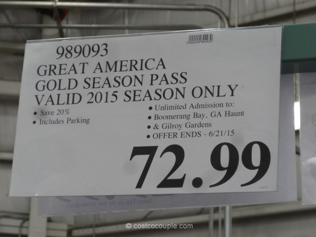 Great America 2015 Gold Season Pass Costco 1